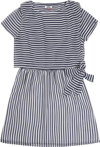 Tommy Hilfiger Jeans Stripe Dress Blue And White Blue And White UIRlpyiGY
