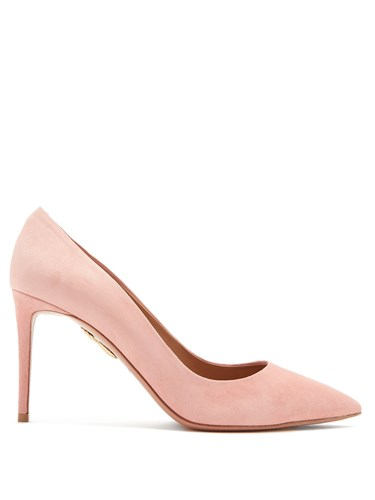 Pink Simply Pumps 85Mm Aquazzura Irresistible Suede Light RY1Oxqdg