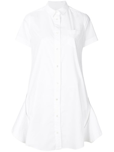 Sacai Shirt Dress Cotton Polyester White Rp49dnep