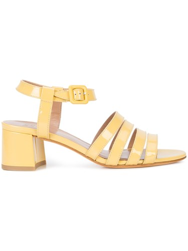 Maryam Nassir Zadeh Strappy Block Heel Sandals Yellow And Orange ZK7HEv