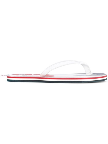 Thom Browne Tropical Flip Flops Men Leather Rubber 9 White gYPQfXdN