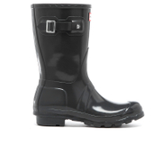 Hunter Women's Original Short Gloss Wellies Dark Slate Grey HiySodU
