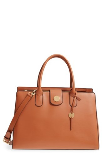 LODIS Los Angeles Rodeo Under Lock And Key Gwyneth Rfid Leather Tote Brown Toffee t090hf8