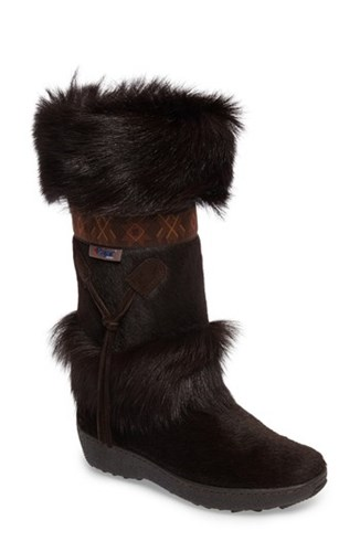 Pajar Women's Laura Genuine Goat Fur Waterproof Boot Brown Fur nTJ2fNR