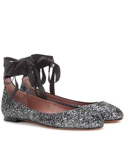 Tabitha Simmons Daria Patent Leather Ballerinas Grey XNsdD8ex7