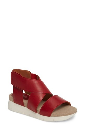 Bos. & Co. Piper Wedge Sandal Red Sauvage Leather TfUf6K6
