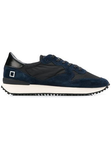 D.A.T.E. Lace Up Panelled Sneakers Black