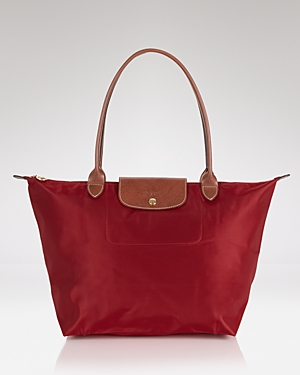 Longchamp Tote Le Pliage Large Shoulder Red JeTqdy3