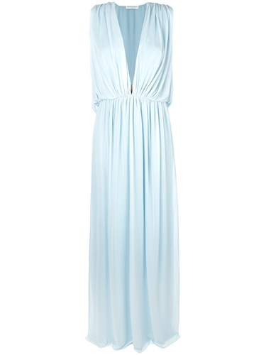 Vionnet Gathered Gown Blue DHCbl6L