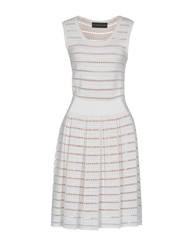 Antonino Valenti Knee Length Dresses White Jt1Mhv