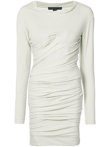 Dress Alexander Mini Wang And Nude Bustier Ruched Neutrals 6ggIRxBqw