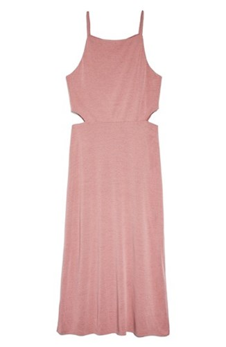 Topshop Cutout Side Midi Slipdress Light Pink qaexjpP