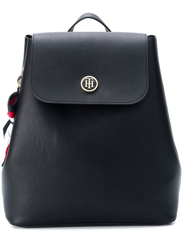 Tommy Hilfiger Embellished Drawstring Backpack Black hYjHJ