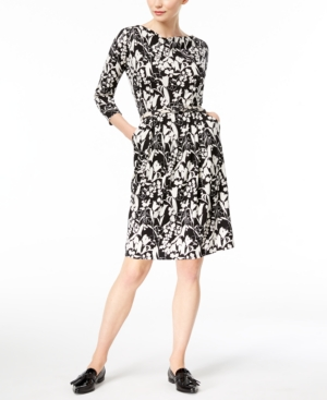 Neck Black Max Weekend Oca A Drape Printed Mara Line Dress FwzwUXRq