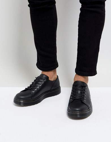 Dr. Martens Dr Dante Straw Grain Leather 6 Eye Shoes Black wHDEgnxv