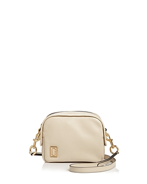 Marc Jacobs The Mini Squeeze Leather Crossbody Bag Cloud White Gold EG30xE