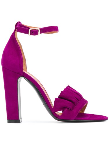 Via Roma 15 Chunky Heeled Sandals Pink And Purple M1SL1Jm9zh