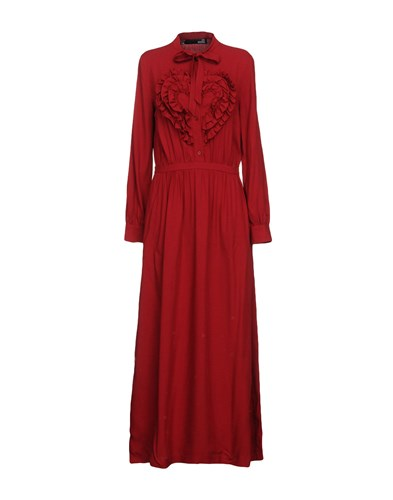 Dresses Long Moschino Love Moschino Red Red Long Dresses Love n70nUpa