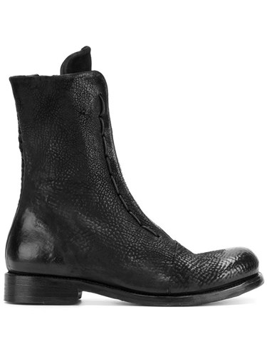Isaac Sellam Experience Textured Boots Leather Black d4l8mQhqts