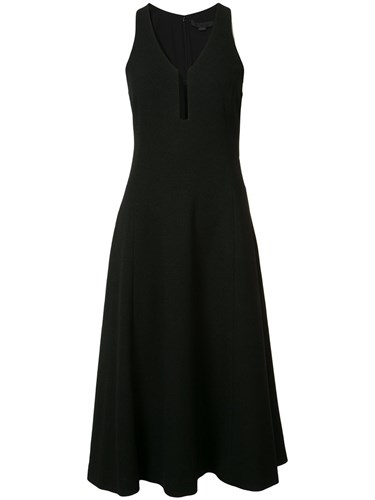 Alexander Wang V Neck A Line Dress Black mSSRvIW