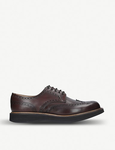 Church's Tewin Wedge Calf Leather Derby Shoes Dark Brown sp5dQenH