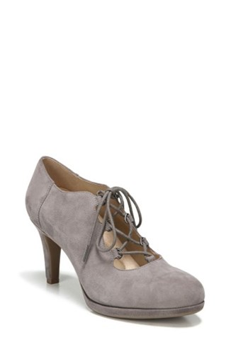 Women's Lace Modern Macie Pump Suede Naturalizer Up Grey dw4dq