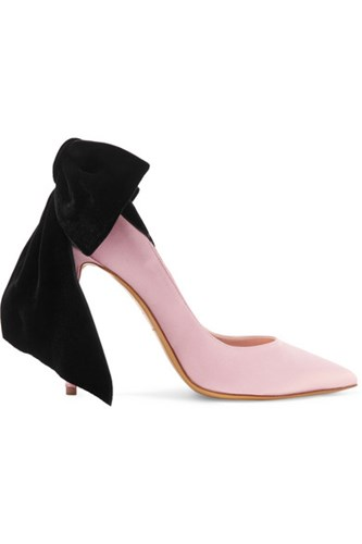 Alexandre Vauthier Bowdown Bow Embellished Velvet And Satin Pumps Blush Gbp oyuyU