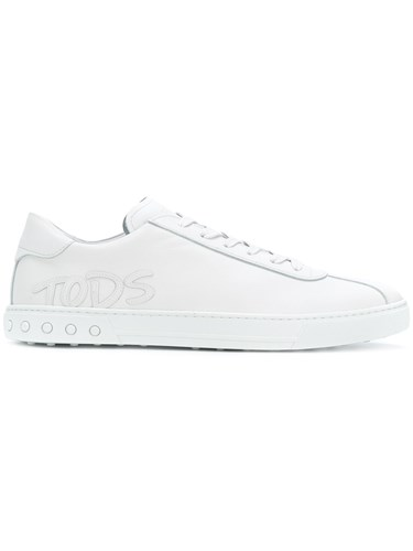 Tod's Logo Applique Lace Up Sneakers White AtQ2s1MAIP