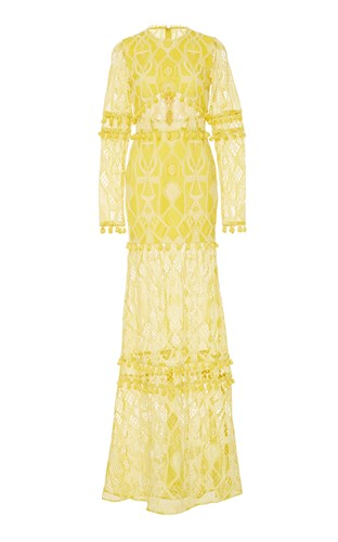 Yellow Alexis Lace Gown Thora Tassel 4x7qf8