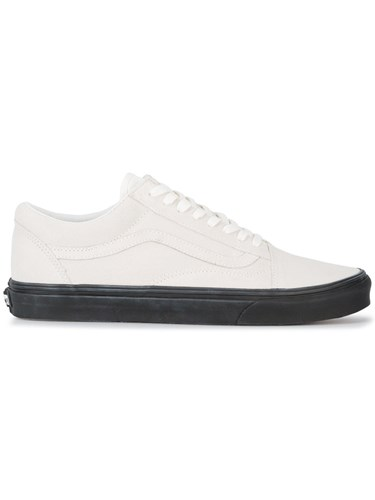 Vans Old Skool Sneakeres Leather Suede Rubber 10.5 White P0C7Rx6