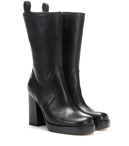 Rick Owens Leather Ankle Boots Black 8fhkg3