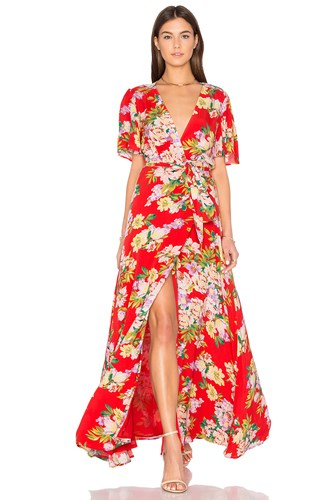 Dress Red Privacy X Please Plaza Revolve Kimono wqX4aYq