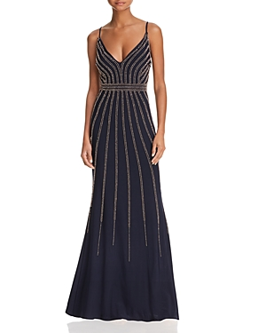 Aqua Beaded Gown 100 Exclusive Navy Rose Gold 2NfOySC