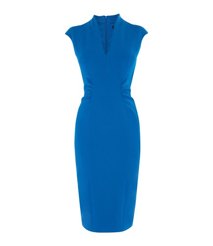 Karen Millen Bodycon Pencil Dress Blue 556naCJ2