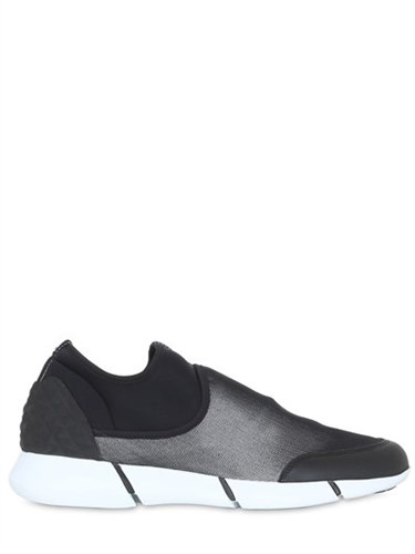 Elena Iachi 20Mm Neoprene And Leather Sneakers DwO9ht