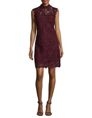 Laundry by Shelli Segal Sleeveless Lace Dress Deep Garnet kAxsKodg