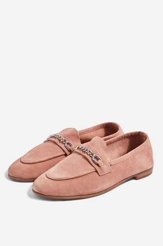 Topshop Key Trim Loafers Pink 5yVIN4