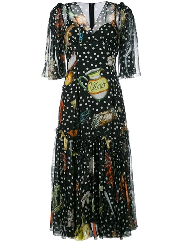 Shift Print Multi Black Dress amp; Gabbana Dolce Iwq0xTC1n