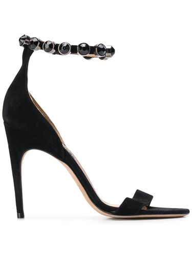 Sergio Rossi Embellished Ankle Strap Sandals Black YkflL3x1X