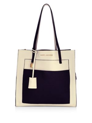 Multi Marc Monochrome Jacobs Tote Grind Leather Grained dYrT1Ywnq