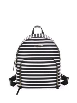 Hartley Black Striped Backpack White Spade Kate PwpOq5fq