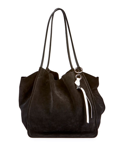 Proenza Schouler Extra Large Suede Tote Bag Black 6ovV4