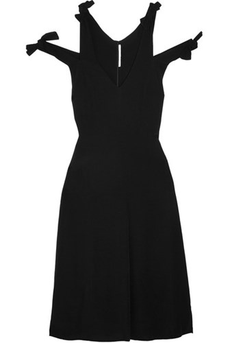 Rosetta Getty Knotted Cutout Crepe Dress Black YhMh4Dasqf