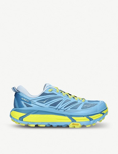 Hoka One One Mafate Speed 4 Mesh Trainers Blue Pal.C hg7QUxLK