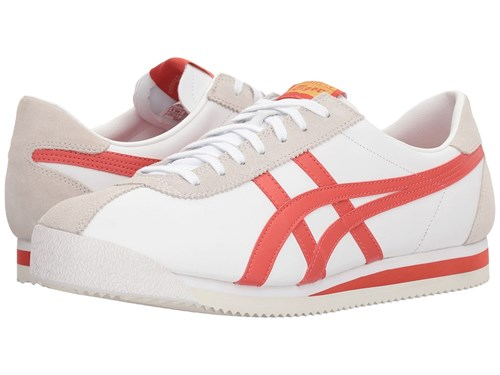 Onitsuka Tiger by Asics Corsair R White Paprika Athletic Shoes Red ifYkaQc62