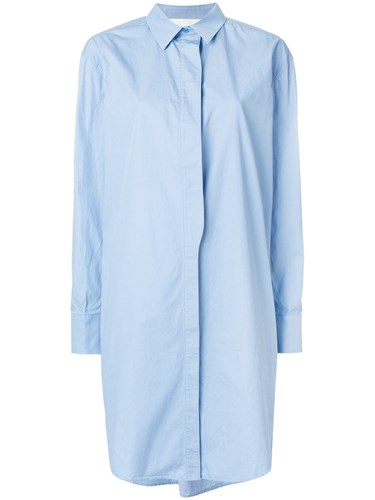 Cédric Charlier Shirt Dress Cotton Blue 5HH2ShU05