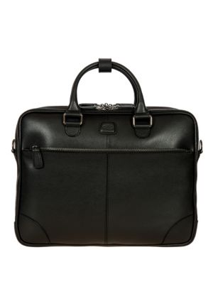 Bric's Varese Business Saffiano Leather Large Briefcase Black xU4UnFVyL