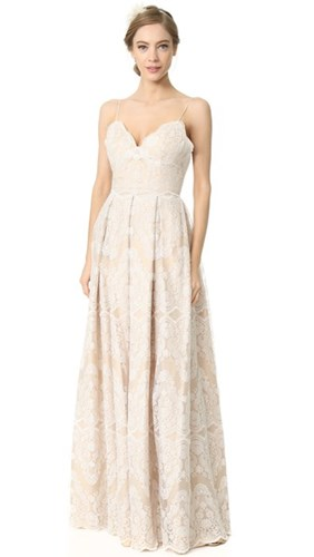 Catherine Deane Helena Gown Oyster Nude k2oa5s
