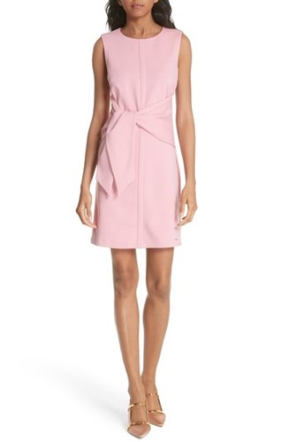 Ted Baker London Papron Tie Front Dress Pink tZgcjEx