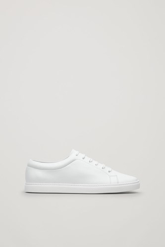 COS Slim Sole Lace Up Sneakers White HJ67mUx